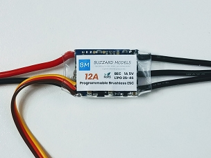 Buzzard Models 12A Brushless Speed Controller w/BEC